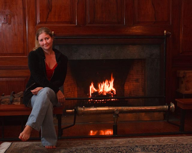 Tanya at the Fireplace