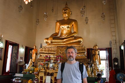And for good measure, me with the Golden Buddha, too