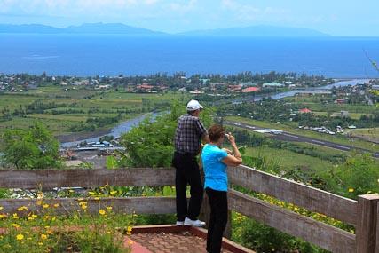 Grandma & Grandpa on Ligñon Hill, overlooking Legaspi City, the capital of Albay Province