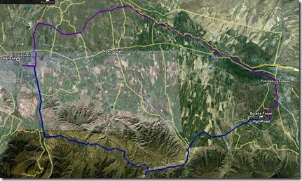 Burana Tower Map