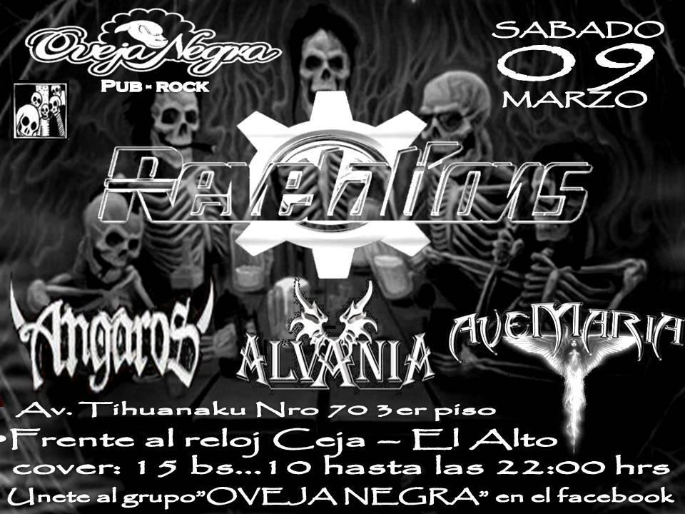Another night of metal at the Oveja Negra, in El Alto.