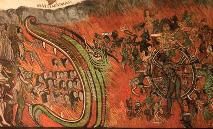 Detail of the mural of the final judgement, my favorite.  This is hell, in case you couldn't tell.
