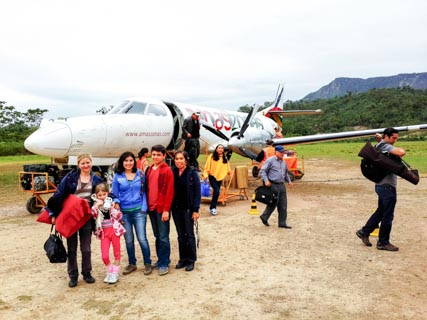 Our party, in front of the airplane