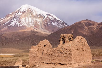 Ruins of the Casilla Chapel, in the Sajama National Park