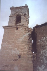 This is the bell tower as it stood two years ago, before being repaired