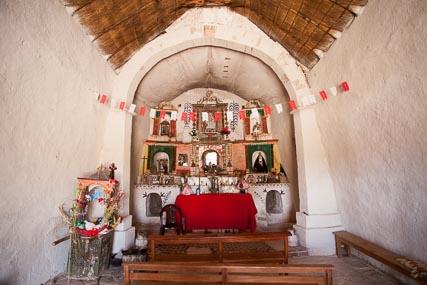Interior of the Rosapata Chapel