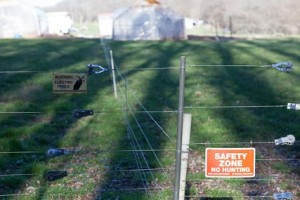 Electric Fence Blocking Access to the Farm