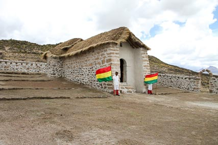 The Chapel, Closer Up. Members of the Mountain Batallion from Curahuara de Carangas Provided a Ceremonial Guard