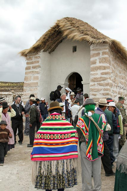Local People Heading into the Church