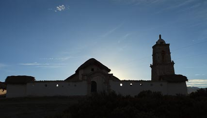 Tomarapi Chapel in the evening
